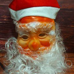 Маска Дед Мороз в колпаке