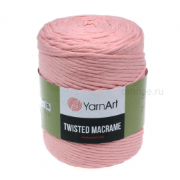 YarnArt Twisted Macrame 767 (розовая пудра), хлопок 60%, вискоза 40%, 500 гр.210м. шпагат