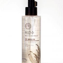 THE FACE SHOP Гидрофильное масло для сухой кожи Rice Water Bright Cleansing Light Oil