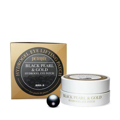 Гидрогелевые патчи для век с чёрным жемчугом Petitfee Black Pearl & Gold Hydrogel Eye Patch 60 шт.
