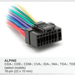 Разъемы магнитол Alpine CARAV 15-001