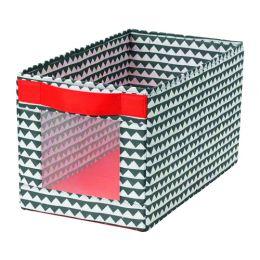 АНГЕЛЭГЕН Коробка, черный, белый 25 x 44 x 25 см