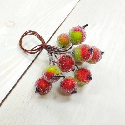 Ягоды в сахаре d1,2 см, 10 шт. цв.: зелёно-красные