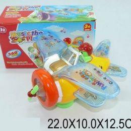 """Муз. іграшка """"Літак"""", батар., світло, звук, 4 види, в кор. 22х10х12 / 72-2 /"""
