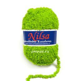Пряжа плюшевая Nilsa (Fashion Baby Soft), цв.: 22 салатовый