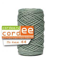 Шнур Cordee, ПЭ4 мм, цв.:44 серо-зелёный