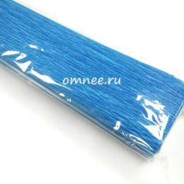 Крепированная бумага, цв.: василёк АМ487, Китай, 2,5 м х 50 см