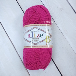 Alize Cotton Gold Hobby (149 фуксия), 55% хлопок, 45% акрил, 50 гр. 165 м.