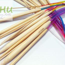 Круговые бамбуковые спицы (на трубке), 80 см, № 3