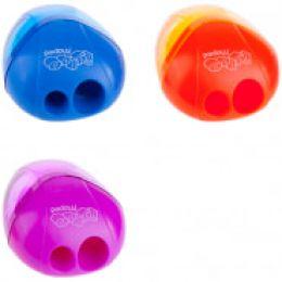 """Точилка пластиковая """"I-Gloo"""", 2 отверстия, контейнер, ассорти 534756"""