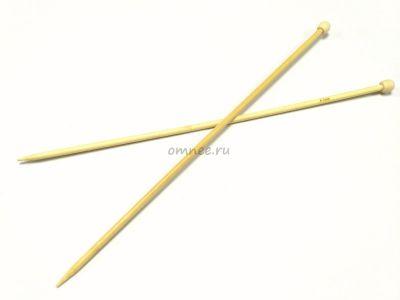 Прямые бамбуковые спицы с наконечником, 35 см № 6