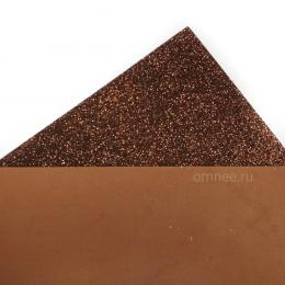 Фоамиран глиттерный 2мм, 20х30 см, цв.: бронза CH-3