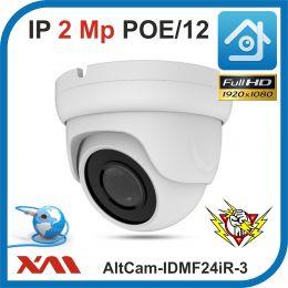 AltCam IDMF24IR-3. POE/12.(Металл/Белая). 1080P. 2Mpx. Камера видеонаблюдения.