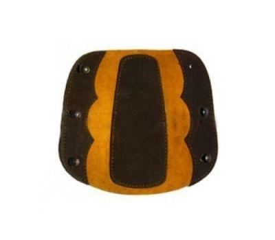 Крага на шнуровке, коричневая (комбинированная замша)
