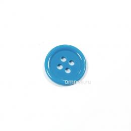 Пуговица классическая 12 мм, цв.: синий, арт. 1375705, шт.