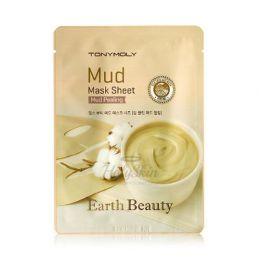 TonyMoly Тканевая маска для лица с белой глиной Earth Beauty Mud Peeling Mask Sheet