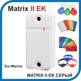 Matrix-II-Е K (серый). Считыватель EM-marine с встроенным контроллером.