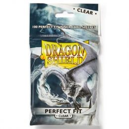 Dragon Shield Standard Perfect Fit Sleeves - Clear/Clear