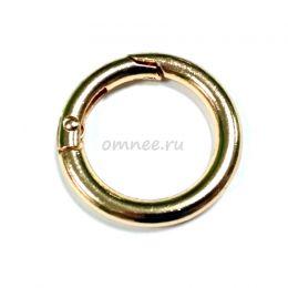 Карабин кольцо 25 мм(внутр.), цв.: золото