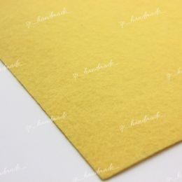 Фетр жесткий 1 мм 20см*30см светло-желтый 1 шт/полиэстер