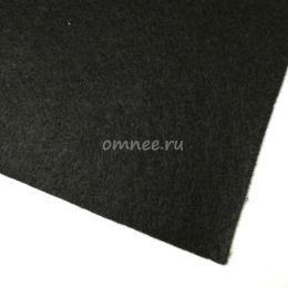 Фетр листовой мягкий 1,2 мм, 20х30 см, цв.: 659 чёрный
