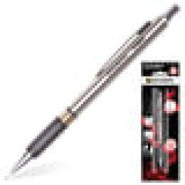 """Карандаш мех. BRAUBERG """"BlackJack"""" метал корпус, рез. держ., ластик, 0,5мм, в блистере, 180463"""