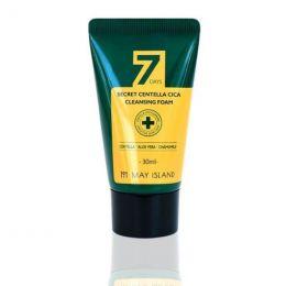 May Island 7 Days Secret Centella Cica Cleansing Foam 30ml Очищающая пенка для проблемной кожи с экстрактом центеллы