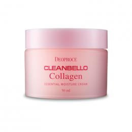 DEOPROCE Cleanbello Collagen Essential Moisture Cream Увлажняющий крем для лица с гидролизованным коллагеном