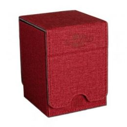 Коробочка Blackfire красная вертикальная премиум на 100 карт