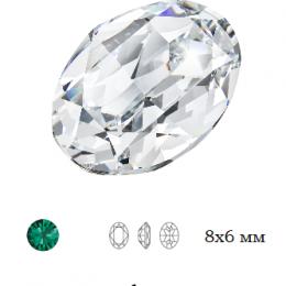 Овал Preciosa Emerald / Maxima 8x6 мм 1 шт (Чехия) СП