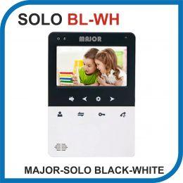 MAJOR SOLO BLACK-WHITE. Видеодомофон 4 дюйма. 2 панели - 2 аудио трубки.