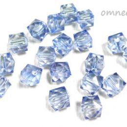 Бусины гранёные квадратные 10 мм, 20 гр. цв.: голубо-фиолетовый, акрил