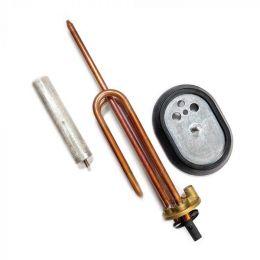 КОМПЛЕКТ: ТЭН RCA 1500W, Ø48, М5, 220V + овальный фланец + прокладка + анод М5