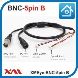 XMEye-BNC-5pin.(Внутренний/Черный). Кабель для камер видеонаблюдения и плат PCB.