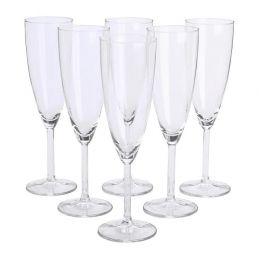 СВАЛЬК Бокал для шампанского, прозрачное стекло, 6 шт