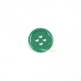 Пуговица классическая 12 мм, цв.: зелёный, арт. 1375706, шт.
