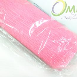 Крепированная бумага, цв.: яр.розовый 09, Китай, 2,5 м х 50 см