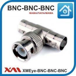 XMEye-BNC-тройник (мама/папа/мама). Разъем для видео сигнала в системах видеонаблюдения.