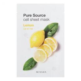 MiSSHA тканевая маска для лица с лимоном