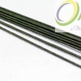 Проволока д/флористики d-0,9мм, 40 см. зеленая