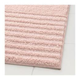 ВОКСШЁН Коврик для ванной, бледно-розовый 40 х 60 см