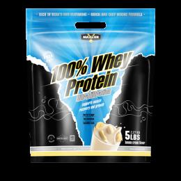 MAXLER 100% Whey protein, дойпак 2,27кг. Banana cream