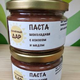 """Паста шоколадная с кокосом и медом """"Солнечный дар"""""""