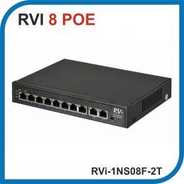 RVi-1NS08F-2T. Коммутатор POE на 8 портов + 2 uplink.