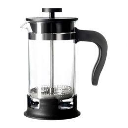 УПХЕТТА Кофе-пресс/заварочный чайник, стекло, нержавеющ сталь 0,4 л