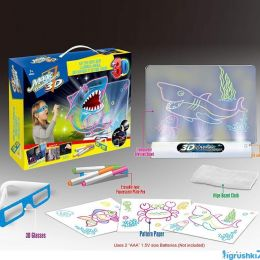 Проекционная 3D доска YM 381/382/383 (72/3) 3 вида, свет, в коробке [Коробка]