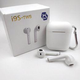 Беспроводные Bluetooth BT наушники TWS i9s (White) AA с анимацией