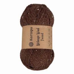 kartopu Malange Wool Tweed (цв.:М1370 коричневый), 20% шерсть, 3% вискоза, 77% акрил, 100 гр. 170 м.