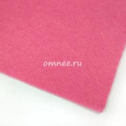 Фетр листовой жёсткий 1,2 мм, 20х30 см, цв.: 614 розовый