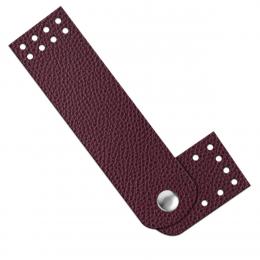 Застёжка для сумки 10,5х3 см, цв.: вишня, иск.кожа